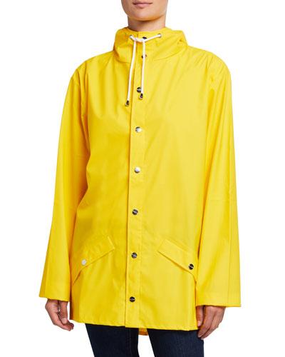 Hooded Fishtail Raincoat