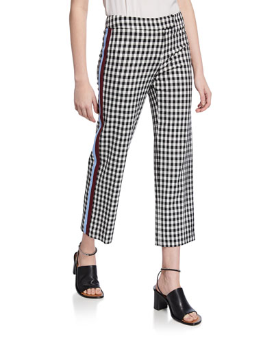 Straight-Leg Trousers with Tuxedo Stripes