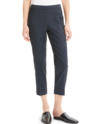 Eco Sharkskin Basic Pull-On Crop Pants
