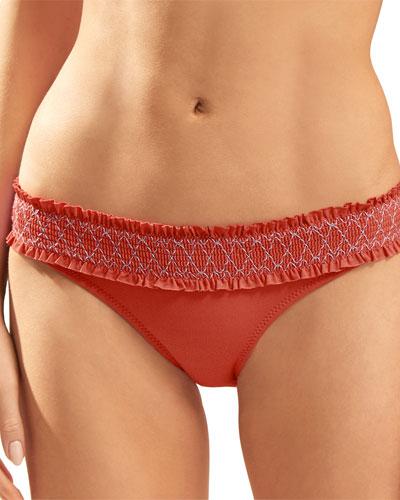 Sofia Smocked Hipster Bikini Bottom
