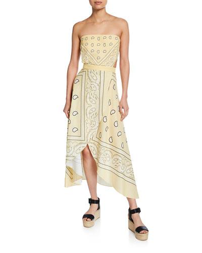 Ines Strapless Bandana Dress