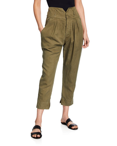 High-Rise Utility Harem Pants