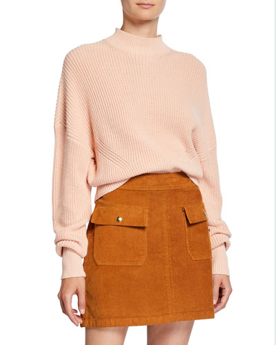 Moving Rob Crewneck Ribbed Cotton/Cashmere Sweater