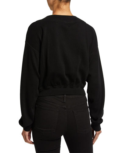 alexanderwang.t Bi-Layer Cropped Sweater Top