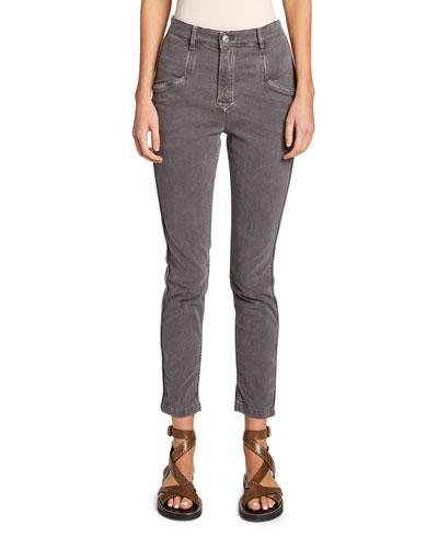 Jamie Mid-Rise Straight-Leg Pants