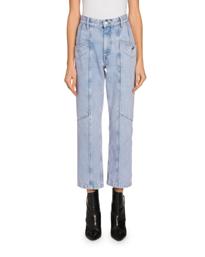 Notty Straight-Leg Cropped Ankle Jeans