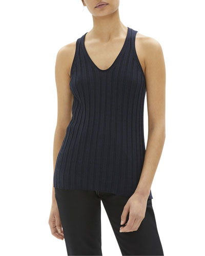 Ribbed Fine Wool Tank