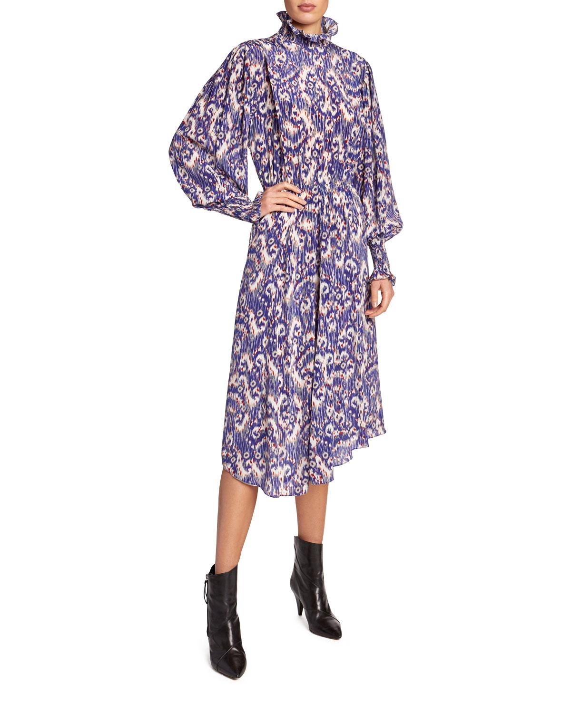 Etoile Isabel Marant Dresses YESCOTT PRINTED HIGH-NECK MIDI DRESS