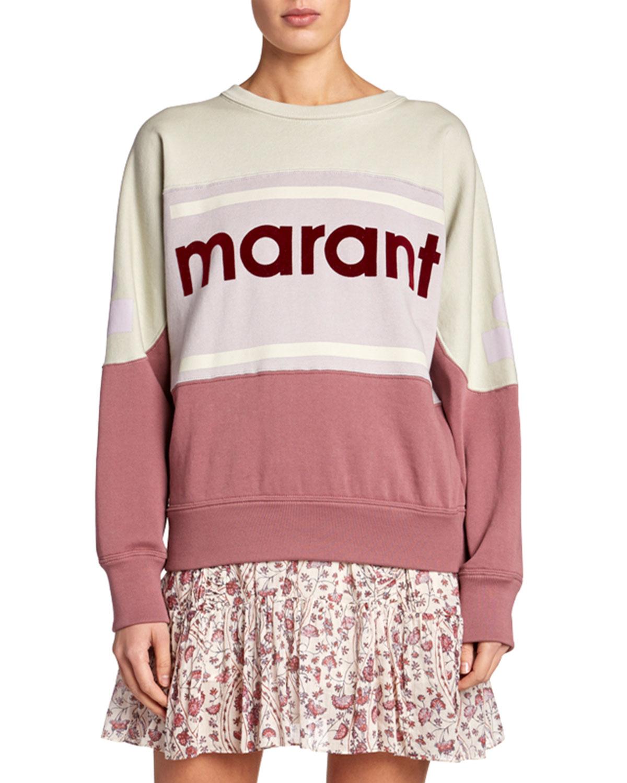 Etoile Isabel Marant T-shirts GALLIAN COLORBLOCK LOGO PULLOVER SWEATSHIRT