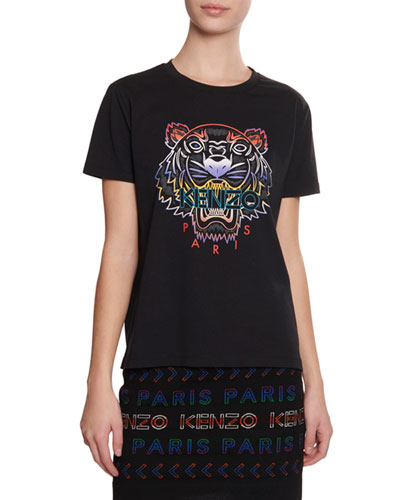 Gradient Tiger Logo T-Shirt