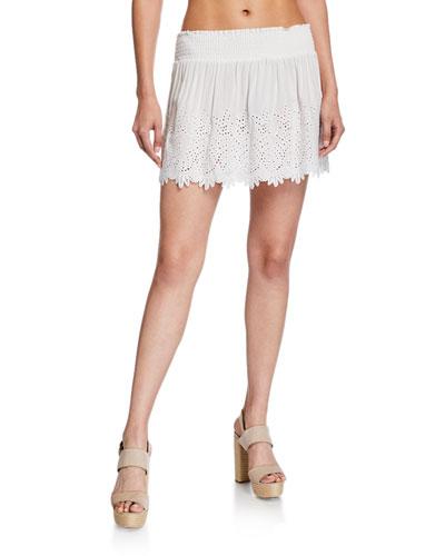 Junia Eyelet Short Skirt