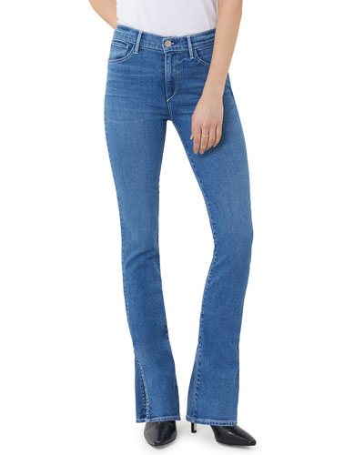 High-Rise Split-Seam Bell Jeans