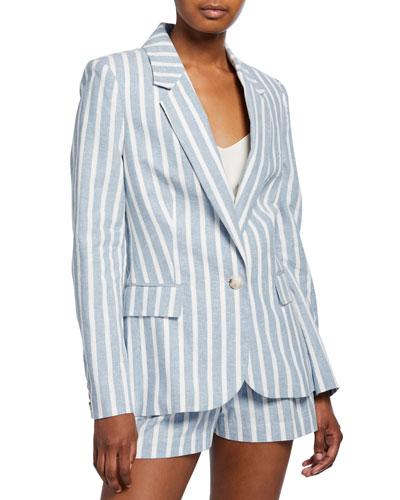 Scout Striped Linen Blazer