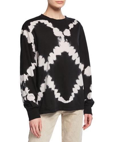 Tie-Dye Long-Sleeve Jersey Cotton T-Shirt