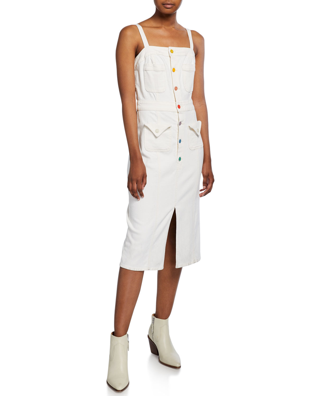 Mother Dresses TO THE POINT BUTTON-FRONT DRESS