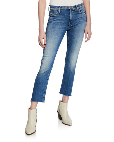 The Rascal Cropped Fray-Hem Jeans