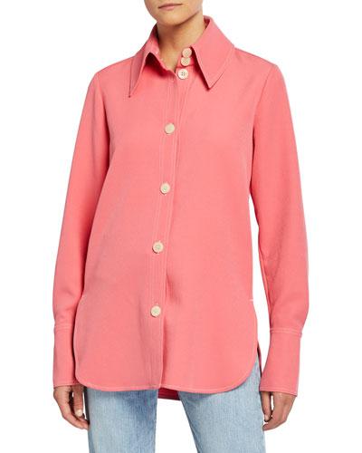 James Oversized Button-Front Shirt