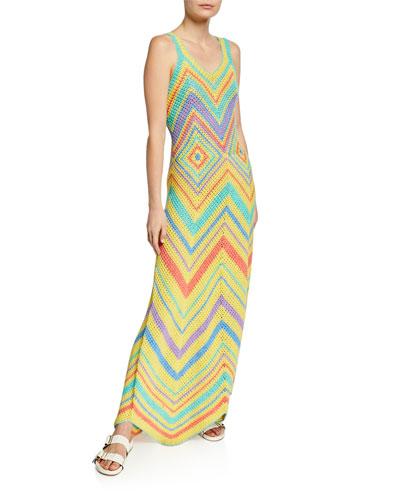 Crochet Maxi Tank Dress