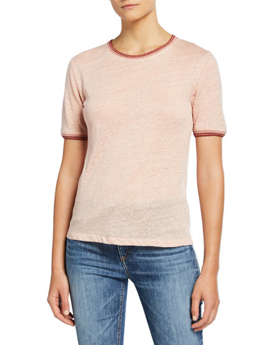 Molly Short-Sleeve Linen Tee