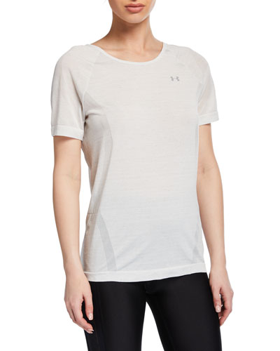 Vanish Seamless Keyhole Space-Dye Tee