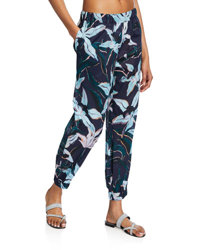 Printed Beach Jogger Pants