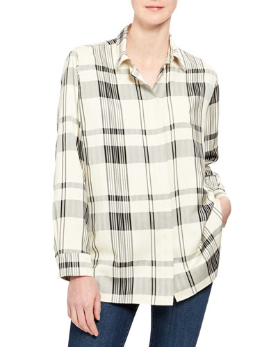 Classic Check Menswear Button-Down Shirt