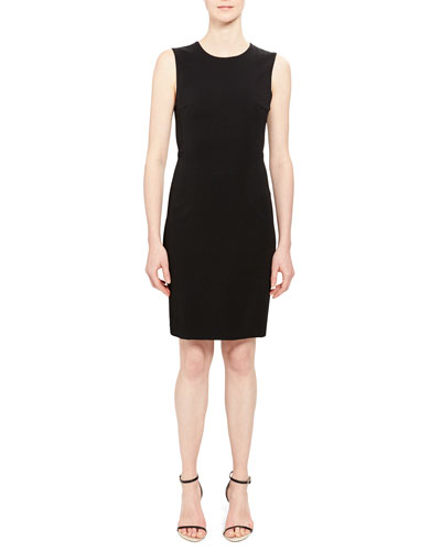 df6cdebe389 Fitted Sleeveless Sheath Dress