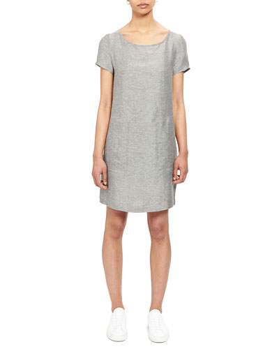 Structured Linen Shift Tee Dress