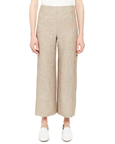 Clean Cropped Linen Pants