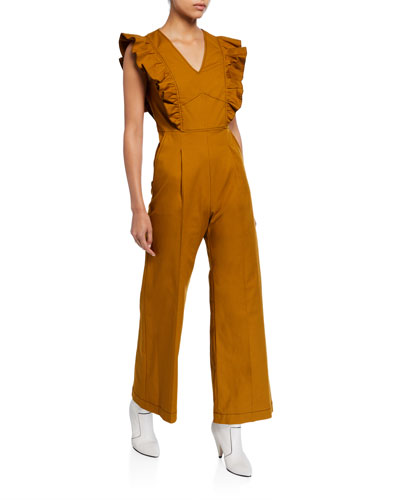 Stevie Ruffled Wide-Leg Jumpsuit