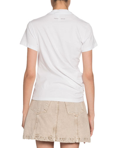 Proenza Schouler White Label Crewneck Short-Sleeve Twisted Jersey