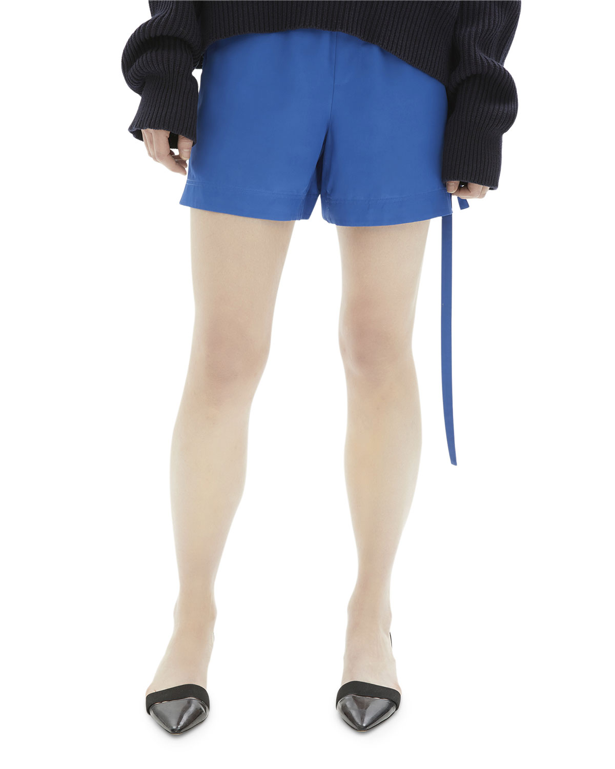 Helmut Lang Shorts SIDE-TIE VISCOSE PULL-ON SHORTS