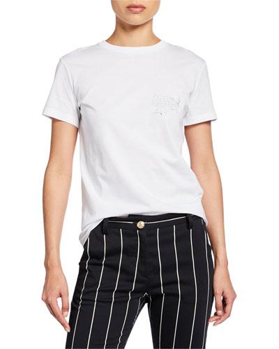 Helmut Laws Graphic Crewneck Short-Sleeve T-Shirt