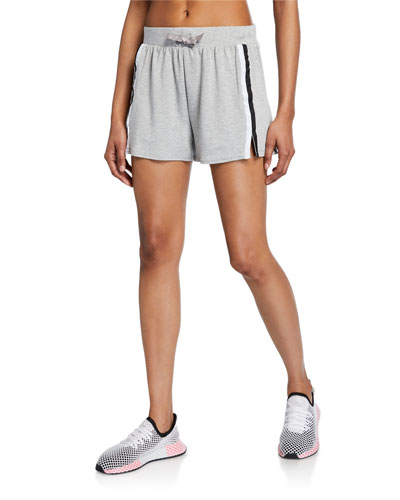 Mid-Rise Striped Casual Shorts