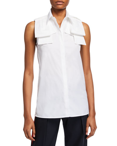 Sleeveless Epaulette Shirt