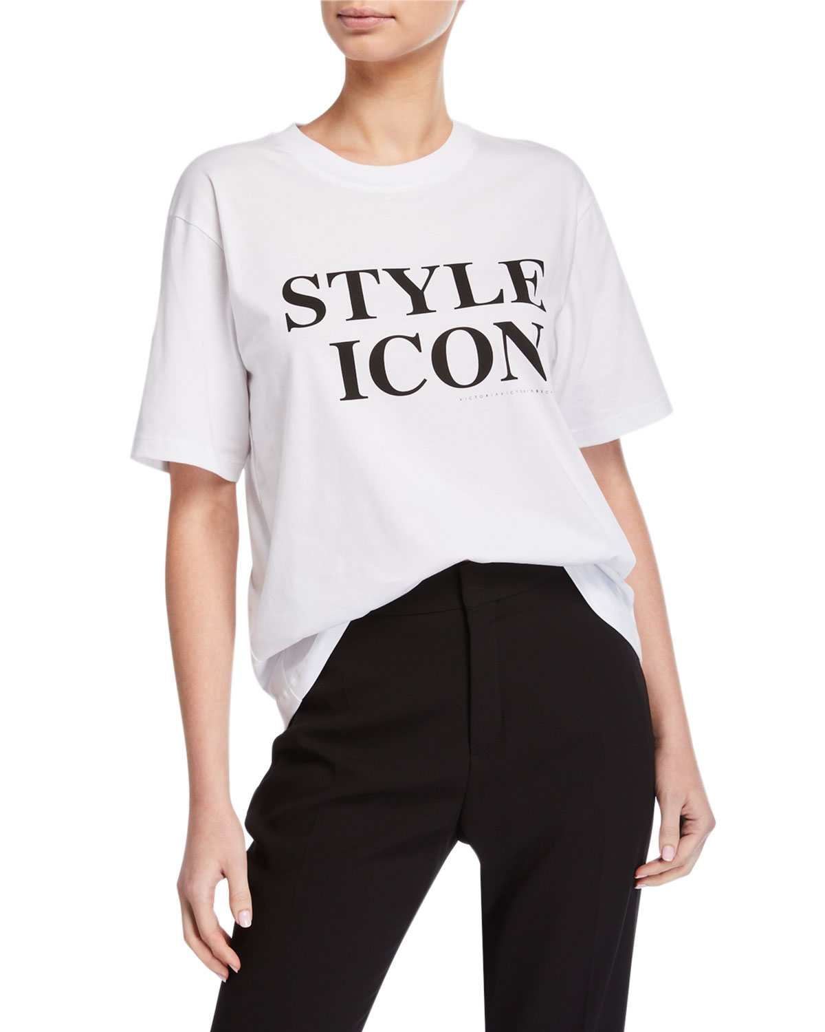 Victoria Victoria Beckham Shorts STYLE ICON SHORT-SLEEVE TEE