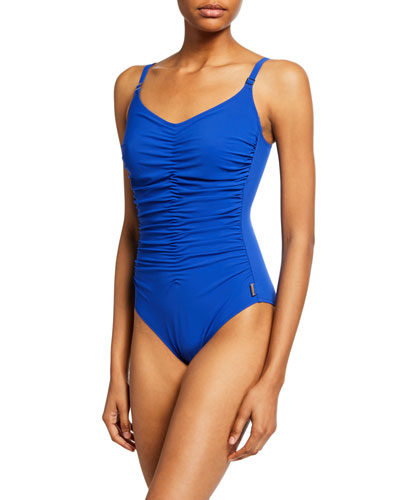 Classique Ruched Underwire One-Piece Swimsuit
