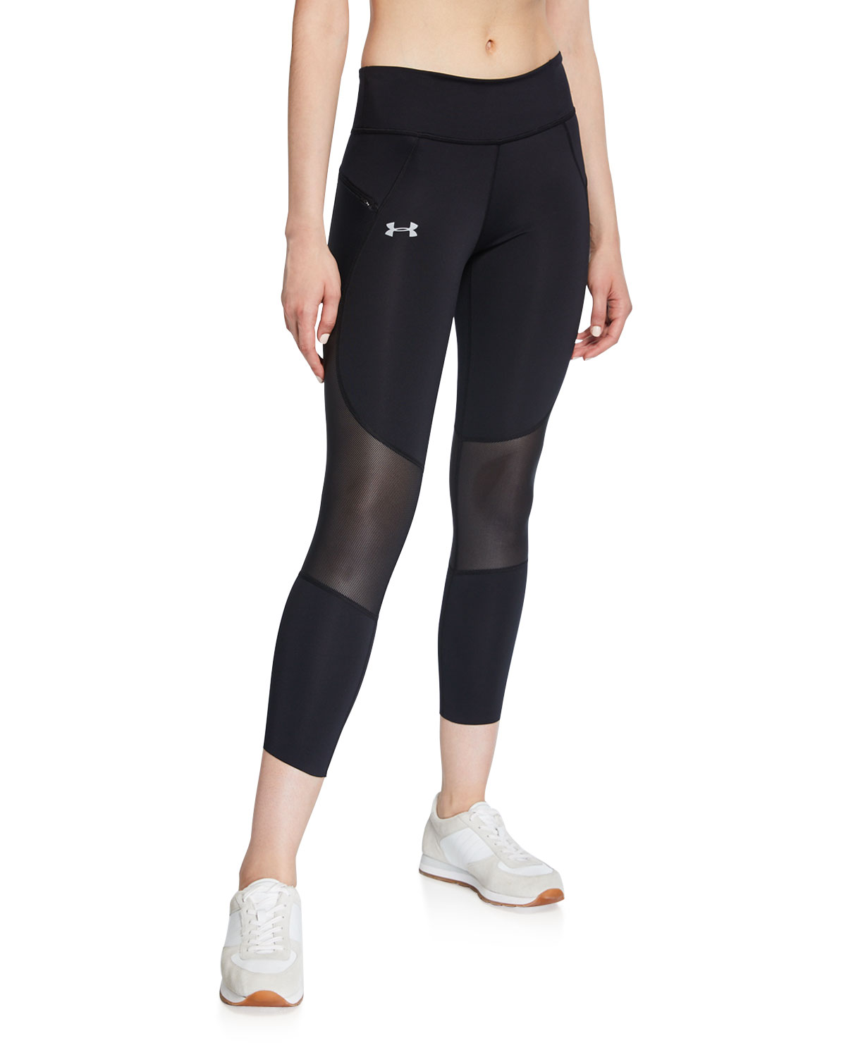 Under Armour Pants SPEEDPOCKET CROPPED MESH RUNNING TIGHTS