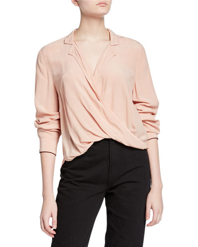 Dean Cross-Front Long-Sleeve Top