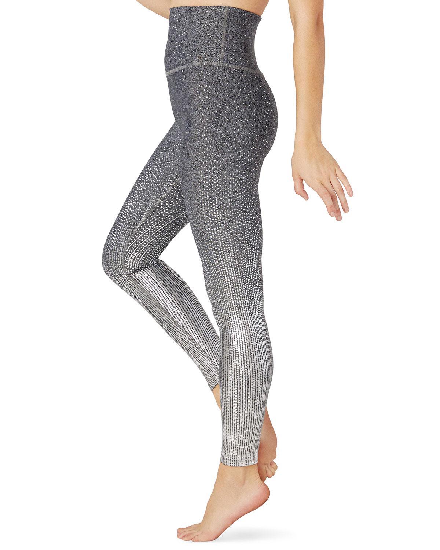 Beyond Yoga Pants DRIP DOT METALLIC HIGH-WAIST MIDI LEGGINGS