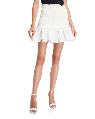 Lotus Cloque Flounce Skirt