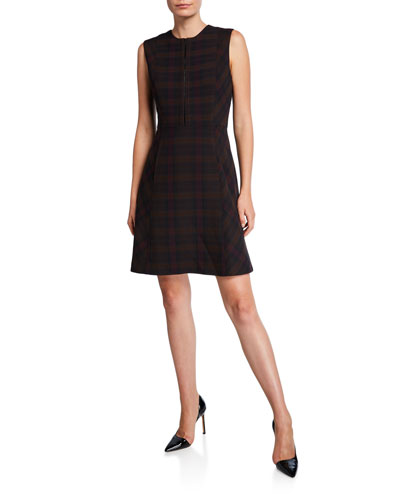 Louisa Plaid Sleeveless Dress