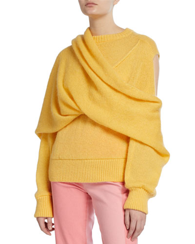 Colette Draped Mohair Sweater