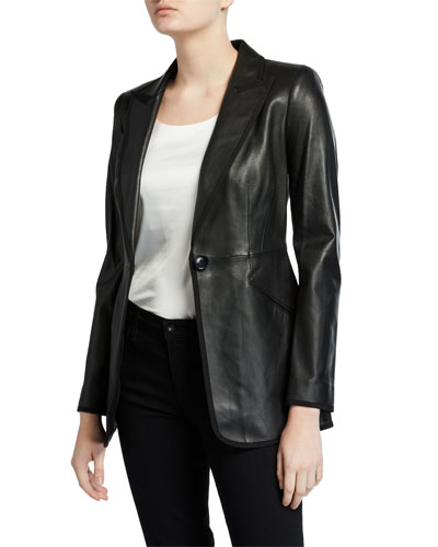 Madison One-Button Leather Jacket