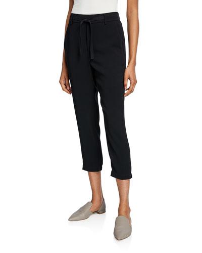 Easy Drawstring Pull-On Capri Pants