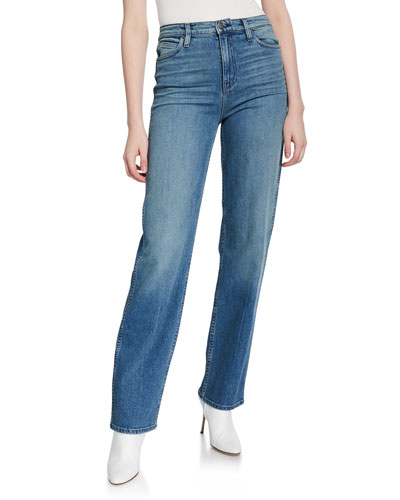 Faye High-Rise Straight Jeans