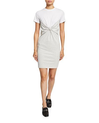 High Twist Jersey Knotted Dress