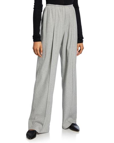 Flannel Wide-Leg Pants