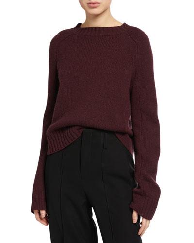 Shrunken Cashmere Crewneck Sweater