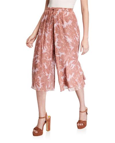 Harper Floral Knee-Length Drawstring Pants